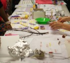 Textile printing workshop by Maria Caley at Nexus, Multicultural Arts
