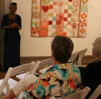 Maria Caley presents her artist floor talk at Yarta Purtli, Port Augusta